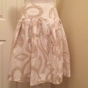 Banana Republic Skirts - Banana Republic Pleated Skirt sz 0 white Beige